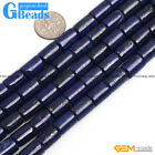Blue Lapis Lazuli Gemstone Column Tube Beads For Jewelry Making Free Shipping