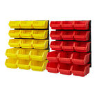 Plastic Bin Kit Wall Garage Storage Parts Bins Tool DIY Organiser Shelving Unit
