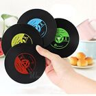 Vinyl Coaster Groovy Record Cup Drinks Holder Retro CD Mat Tableware Placemat