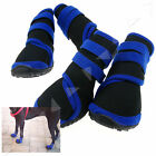4PCS Pet Dog Protective Rain Boots Waterproof Shoes Anti Slip Black S/M/L