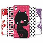 HEAD CASE DESIGNS CATS AND DOTS HARD BACK CASE FOR SONY PHONES 2