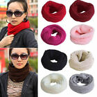 Womens Girls Soft Warm Knit Neck Circle Wool Blend Cowl Long Scarf Shawl Wrap