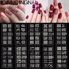 Pochoir Template Plaque Stamping Stamp Tampon Ongle Image Manucure Nail Art Tips