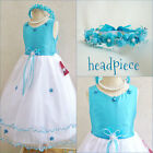 New Turquoise blue pageant flower girl  dresses  party children easter dress
