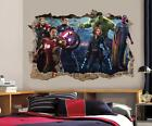 The Avengers Smashed Wall 3D Decal Removable Graphic Wall Sticker Mural 2 H145