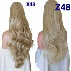 TRIO BLONDE Long Curly Layered Half Wig Hair Piece Ladies 3/4 Wig Fall Clip in