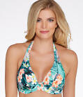 Sunsets Tropical Oasis Halter Swim Top D-DD Cups