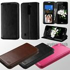 For LG Tribute 5 K7 Hybrid Leather Flip Wallet Style Case Stand Cover
