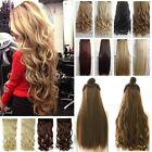 Women thick Straight Hair One Piece 5Clips in Hair Extensions 3/4 Full Head EO14