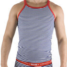 ES Collection Cotton Shirt T-Shirt Vest 552 blue blue striped S - XL