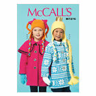 McCall's 7276 Sewing Pattern to MAKE Children's Coats, Capelet, Hats & Scarf