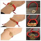 3 Style Feng Shui Red String Lucky Coin Charm Bracelet for Good Luck & Wealth