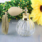 Vintage Refillable 100ml Empty Clear Crystal Perfume Bottle Short Spray Atomizer