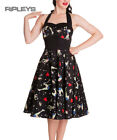 HELL BUNNY Black 50s Dress FOREVER DEAD Zombie Pinup Rockabilly All Sizes