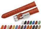 Genuine Leather Croco Clasp Strap Watch Band 18 19 20 21 22mm Strap For Tissot