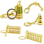 1 Pc Gold Tone Feng Shui Gourds Ruyi Pagoda Lucky Keychain Metal Key Ring Unisex