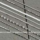 Fashion Men Women Silver Link Curb/Box/Snake/Water Wave/Ball Chain Necklace