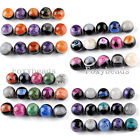 5PC 20/22/24/30mm Round Geode Agate Drusy Gems Loose Bead Jewelry Making DIY FB