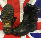British Army Extreme Cold Black Leather Goretex Combat Boots Vibram Size 6L