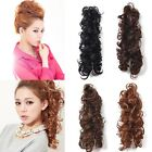 4 Colors Lady Long Wavy Curly Heat Resistant Hair Bun Ponytail Hair Extensions