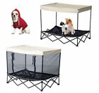 """40"""" Large Elevated Pet Bed Foldable Raised Cat Dog Canopy Cot Camping Outdoor"""