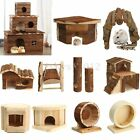 Natural Wooden Warmer House For Hamsters Hedgehogs Mice Other Small Rodents Toys