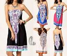 AU SELLER BOHO Womens Sexy Sundress Party Beach Dress Bikini Cover Up dr164