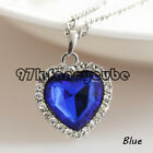 XPP Cute Crystal Rhinestones Titanic Heart of Ocean Necklaces Jewelry Gift