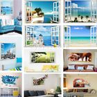 3D Effect Wall Sticker Window View Removable Decals Mural Home Room Art Decor
