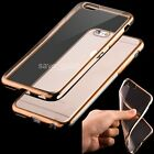 Shockproof TPU Gel electroplate Bumper Clear Back Case Cover For iPhone 6 6+ 6s