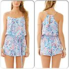 Clerance! $158 Lilly Pulitzer Dusk Romper Shell Me About It Tie Waist XXSMLXL