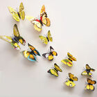 12pcs 3D Butterfly Sticker Art Design Decal Wall Home Decor Room Decorations G~