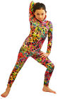 Dance Wear-Gym-Girls/Womens-ABSTRACT ALL IN ONE CATSUIT All Ages Adults Sizes