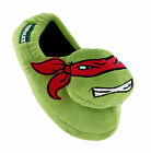 New Boys Teenage Mutant Ninja Turtles Raphael 3D Slip on Warm Slippers Size 7-2