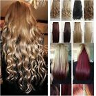 "Blonde 24"" Best Synthetic Clip in HAIR EXTENTION half head one piece 5 CLIPS"
