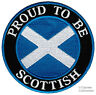 More images of PROUD TO BE SCOTTISH embroidered iron-on PATCH SCOTLAND FLAG ST ANDREW SALTIRE