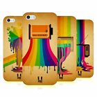 HEAD CASE DESIGNS COLOUR DRIPS SOFT GEL CASE FOR APPLE iPHONE 5 5S SE