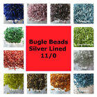 1000 Bugle Beads Silver Lined 6mm Assorted Colors Loose Beads