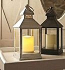Vintage Style Retro LED Flameless Candle Square Lantern Home Garden Patio Light