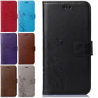 Premium Butterfly Flower Pattern Flip Stand Leather Wallet Case For Apple Galaxy
