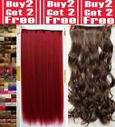 Real Natural Clip in Full Head Hair Extentions Synthetic remy quality Ginger Red