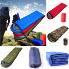 Outdoor Waterproof Camping Hiking Suitcase Envelope Sleeping Bag Zip + Bag UK