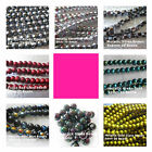 Metallic and Foiled Glass Beads 4mm to 10mm Assorted Colors Shapes and Sizes