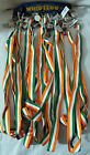 Irish Flag Lanyard With Chrome Referee Style Quality Whistle St Patrick's Day
