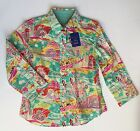 "Robert Graham Women's ""Lucerne"" 100% Cotton 3/4 Sleeve Button Down Blouse"