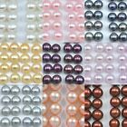 7mm Button Half-drilled Freshwater Pearls for Jewellery Making Earrings AAA