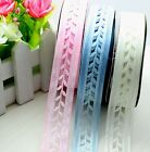 "5Y-20Y 0.8"" Hollow Fabric Ribbon Wedding Trim Decora DIY Dress Craft L2323-2325"