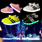 Kids Youth Girls Boys LED Light Up Luminous Shoes Cute Sneakers Trainers Teens