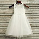 Lace Girl 5 Layers Tutu Dress Birthday Wedding Communion Formal Pageant D3