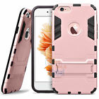 """Внешний вид - For iPhone 6 6S 4.7"""" / 5.5"""" Plus Hybrid Rubber Hard Case Cover with Kick-Stand"""